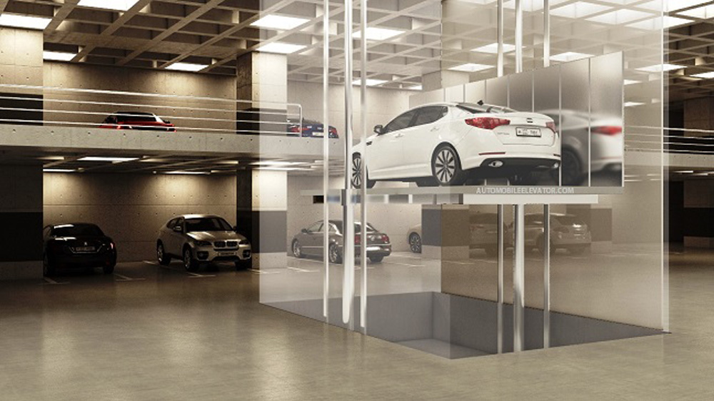 Automobile Elevator Render